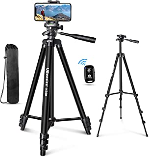 "UBeesize 60"" Phone Tripod with Carry Bag & Cell Phone Mount Holder for Live Streaming, Extendable Travel Lightweight Tripo..."
