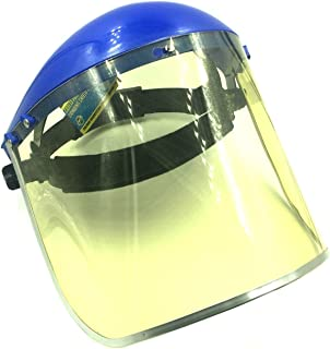 BRUFER 223103 Full Face Shield Mask for Grinding, Construction, General Manufacturing - Yellow Tint Visor