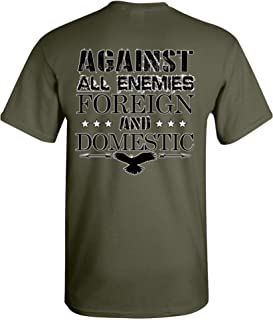 Patriot Apparel Against All Enemies Foreign Domestic T-Shirt