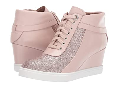 LINEA Paolo Freja Wedge Sneaker (Pink Leather/Glisten Leather) Women