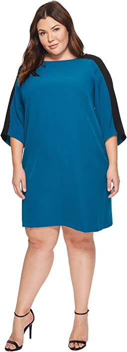 Adrianna Papell - Plus Size Stretch Crepe Shift Dress