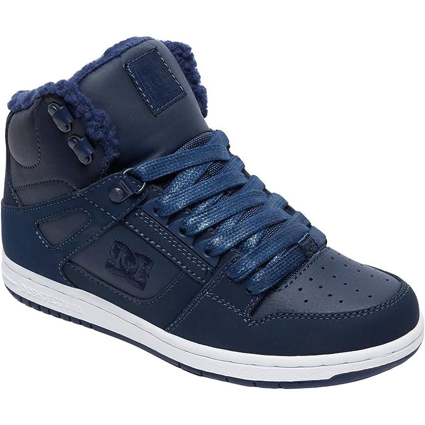 熟考する耐えられるわずかなDC(ディーシー) レディース 女性用 シューズ 靴 スニーカー 運動靴 Rebound High WNT - Navy 3 [並行輸入品]