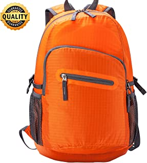 Hiking Backpack 20L&35L Fold UP Backpack Water Resistant Lightweight Backpack Black&OrangeClick to see price