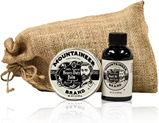 Heavy Duty Beard Balm and Beard Oil by Mountaineer Brand: The Ultimate Beard Conditioning Combo Pack
