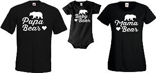 Youth Designz Baby  Herren  Damen T-Shirts Strampler Set Modell Mama, Papa & Baby Bear/Für die ganze Familie/in versch. Farben
