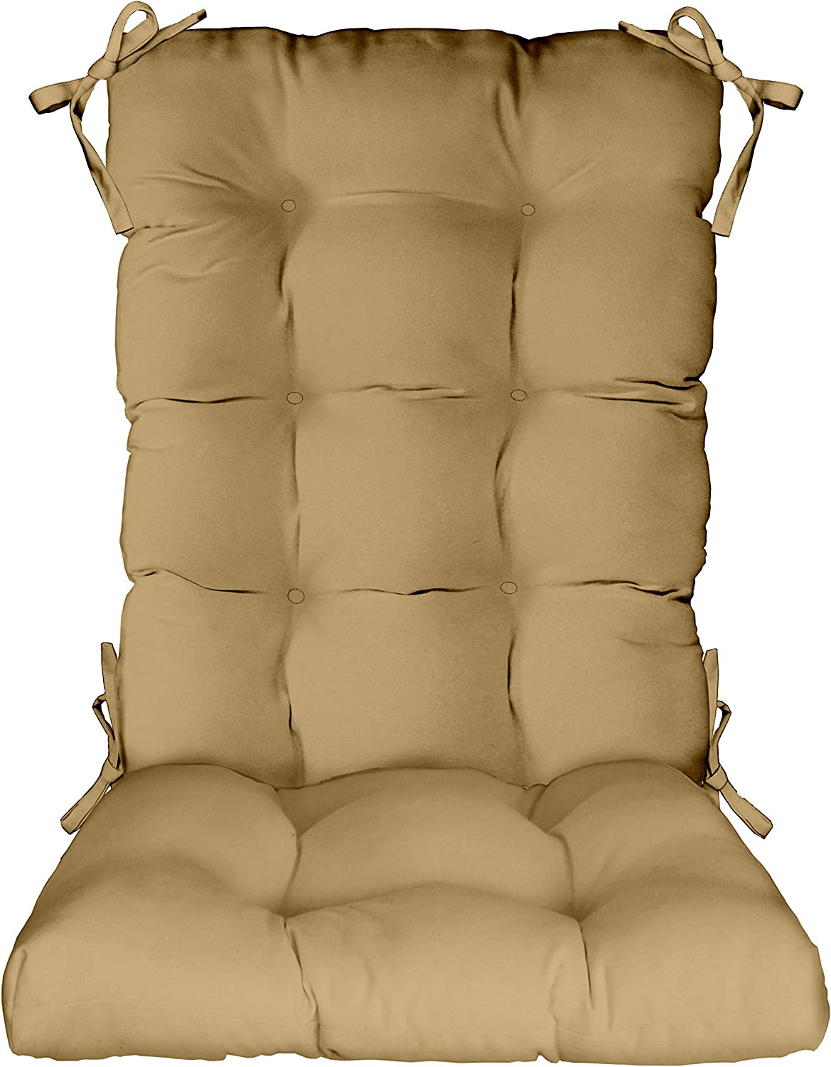 RSH Décor Super sale Indoor Outdoor Tufted Rocker Chair Max 49% OFF Pad Cush Rocking