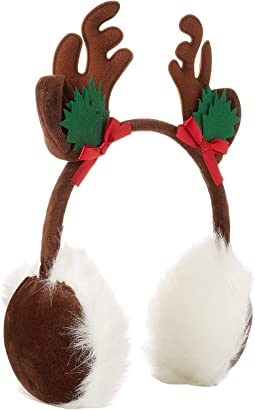 Reindeer with Ribbons Earmuffs