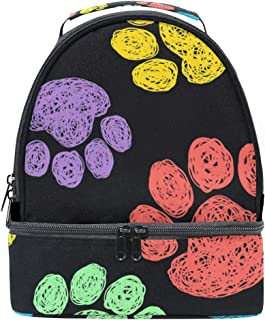 Mydaily Kids Lunch Box Colorful Dog Claw Reusable Insulated School Lunch Tote Bag