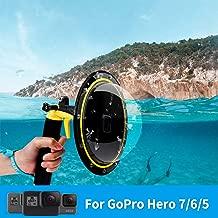 TELESIN Dome Port with Pistol Trigger T05-for GoPro Hero 7,Hero2018, Hero 6, Hero 5 Black