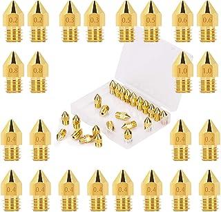 LUTER 3D-printermondstukken, 24 stuks, MK8, uitwerpmondstuk, 0,2/0,3/0,4/0,5/0,6/0,8/1 mm, met bewaardoos, voor Makerbot C...