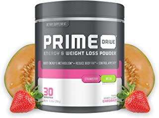 Complete Nutrition Prime Drive Energy & Weight Loss Powder, Strawberry Melon, Increase Energy, Boost Metabolism, Fat Burner, Appetite Suppressant, 10.16oz (30 Servings)