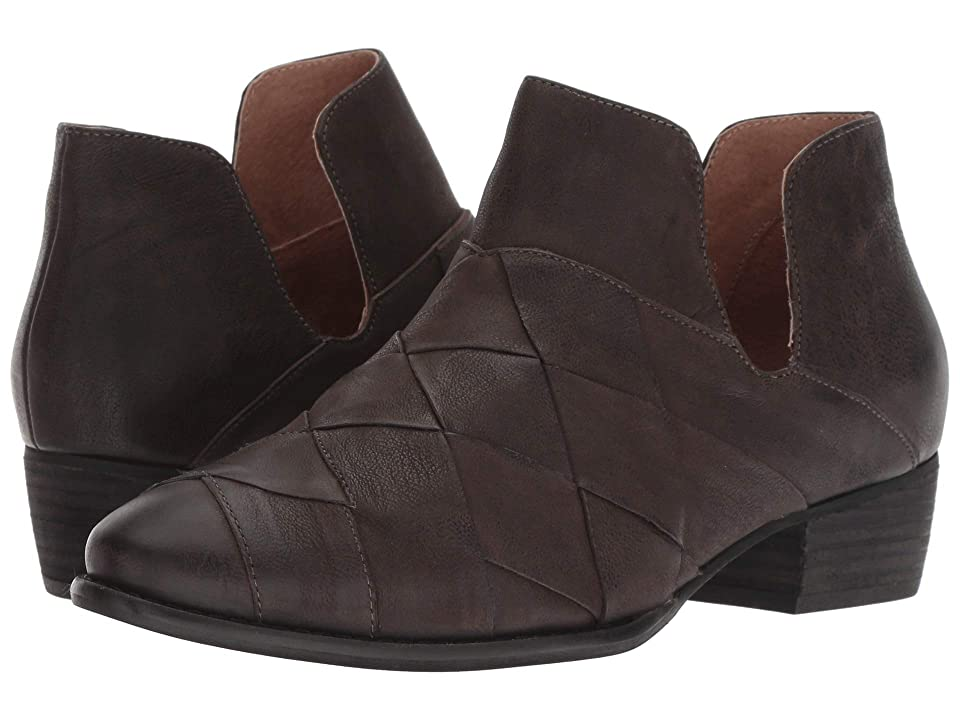 Seychelles Deep Sea Bootie (Dark Grey Leather) Women
