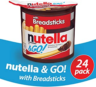 Nutella and Go Snack Packs, Chocolate Hazelnut Spread with Breadsticks, 1.8 Ounce,24 Count
