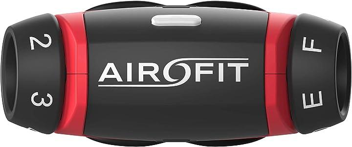 Airofit respiratory trainer, allena i muscoli delle vie respiratorie, misura il volume respiratorio e la forza B08H58Y592