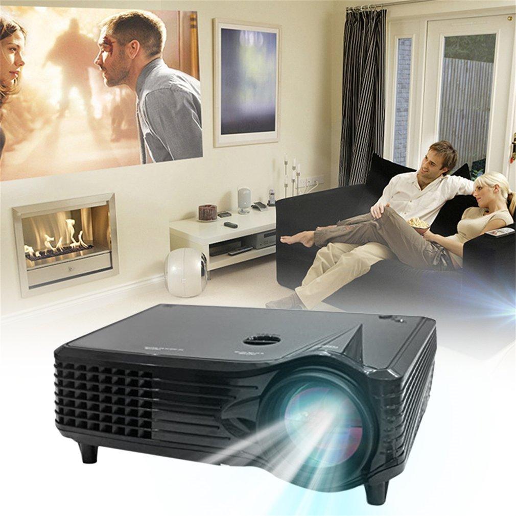 leshp proyector 2000 lumens LED Multimedia cine en casa Mini Proyector 1080p HD LCD portátil vídeo proyector Soporta USB/SD/AV/HDMI/VGA para teléfono, Laptop, PC, Playstation: Amazon.es: Informática