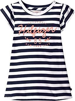 Core Short Sleeve Signature Stripe Tee (Big Kids)
