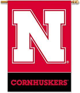 BSI NCAA Nebraska Cornhuskers 2-Sided Banner with Pole Sleeve, 28x40, Red, One Size, 96605