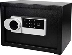 HOH-Tech Steel Security Safe with Digital Keypad And Fingerprint Lock Multi-function Safe Box, Safe to Protect Jewelry Gun...