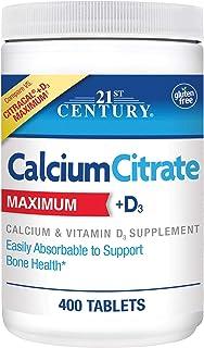 21st Century Calcium Citrate Plus D3 Maximum Tablets, 400 Count