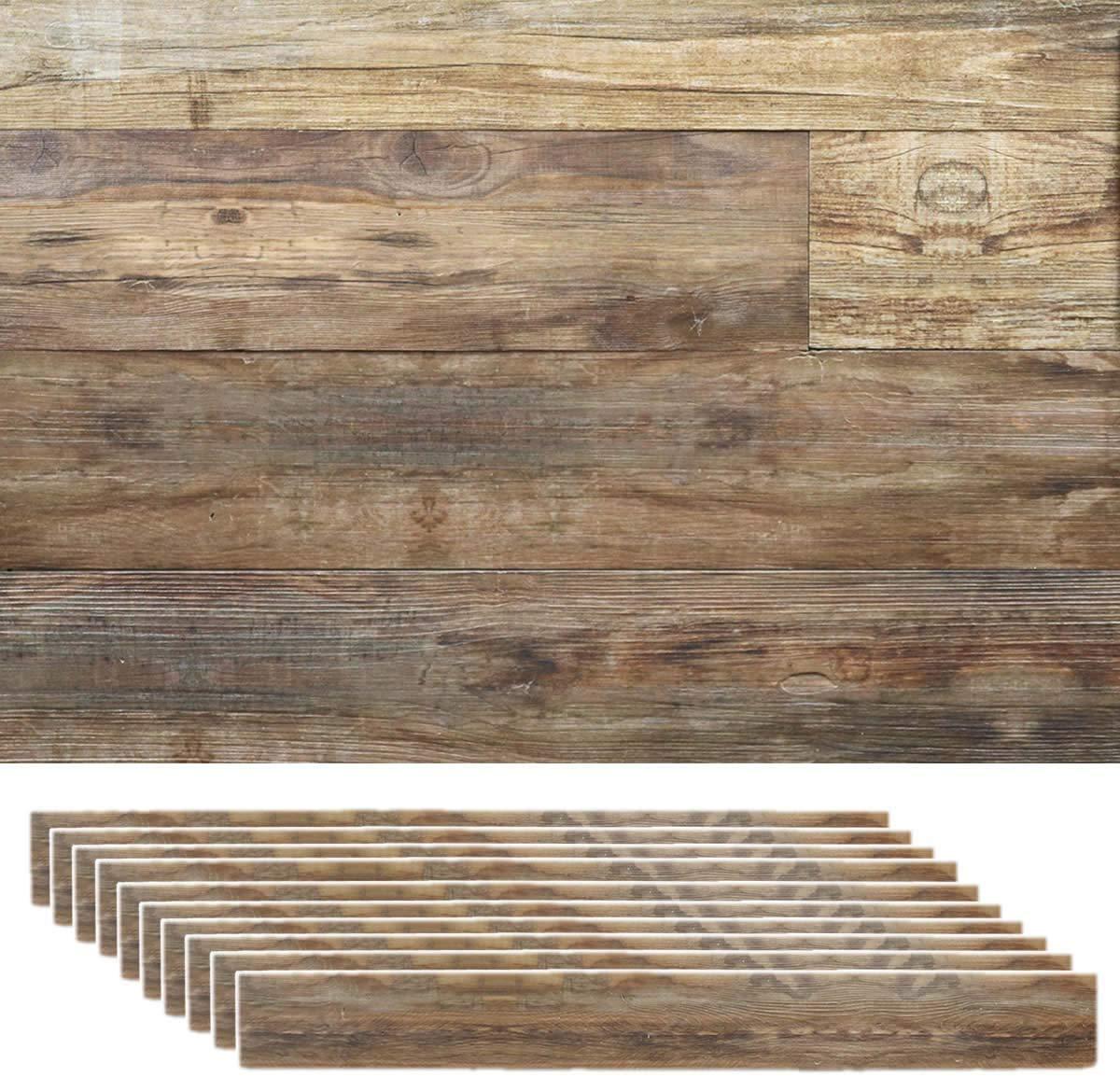 Amazon 壁紙シール 木目 パネル シールタイプ ウッド 壁材 枚組 約3 ブルックリン 壁紙