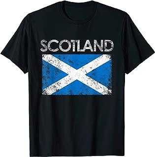 Vintage Scotland Flag Pride Scottish Gift T-Shirt