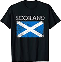 Vintage Scotland Flag Pride Scottish Gift T-Shirt