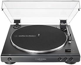 Audio-Technica AT-LP60XUSB-BK Fully Automatic Belt-Drive Stereo Turntable, Black, Hi-Fi, 2 Speed, Convert Vinyl to Di...