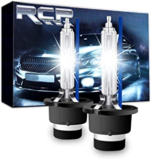 RCP - D2S8 - (A Pair) D2S/ D2R 8000K Xenon HID Replacement Bulb Ice Blue Metal Stents Base 12V Car Headlight Lamps Head Lights 35W