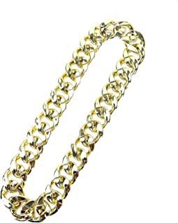 Men's Chunky Necklace, Rapper Fake Gold Chain - 90s Hip Hop Fake Gold Necklace Costume Accessory (27.5-Inch)