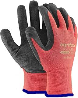 24 PAIRS NEW LATEX COATED WORK GLOVES SAFETY DURABLE GARDEN GRIP BUILDERS (L-9)
