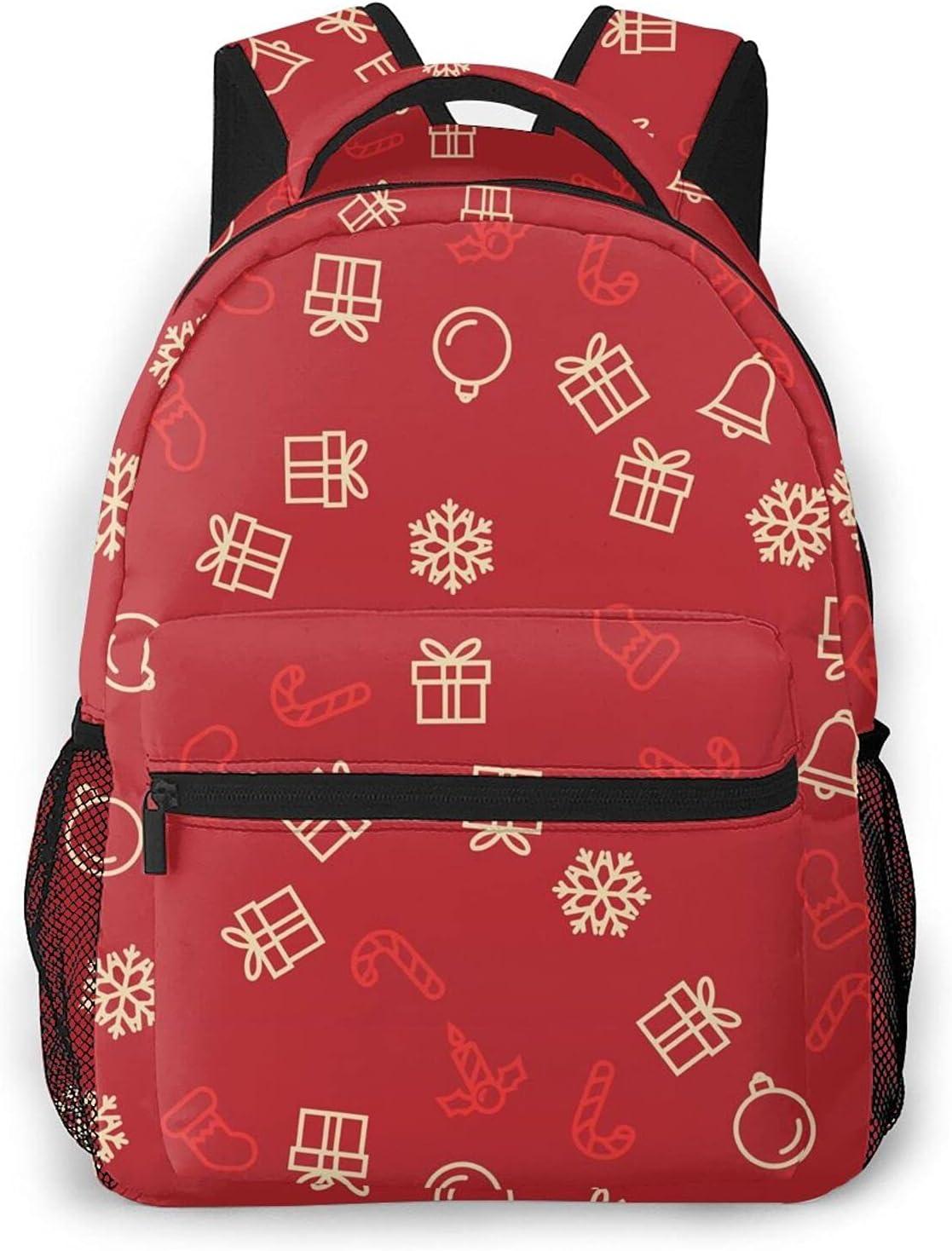 Backpack Unisex School Bag Christmas Seasonal Wrap Introduction Canvas Selling Gifts Rucksack Lapto