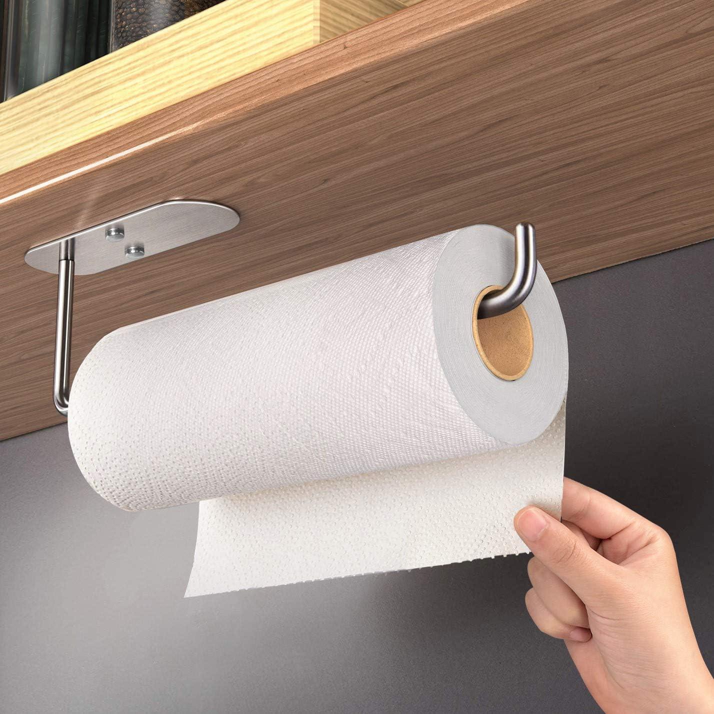HUFEEOH Paper Towel Holder Attention brand Under Kitchen Regular store Cabinet Mount for