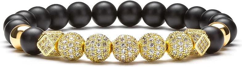 Best black and gold bead bracelet Reviews