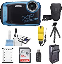 $199 Get Fujifilm FinePix XP140 Shock & Waterproof Wi-Fi Digital Camera (Sky Blue) with 32GB Card + Battery + Charger + Case + Tripod +Ultimate Deals Kit