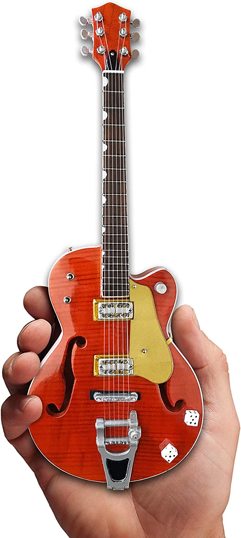 Super popular specialty store Brian Setzer Mini Guitar Nashville Dice Body Hollow Orange Great interest
