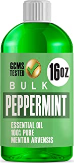 16oz Bulk Peppermint Essential Oil (Giant 16 Ounce Bottle- Therapeutic Grade Peppermint Oil) Perfect for Aromatherapy Diff...