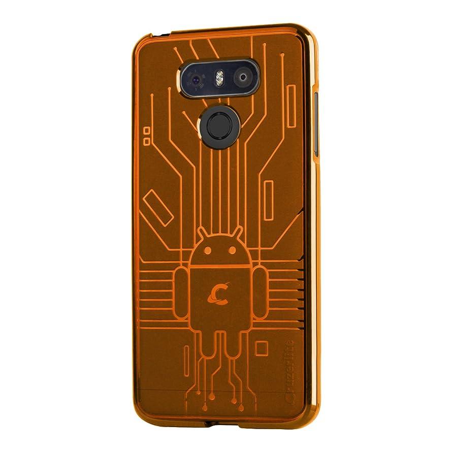 Cruzerlite LG G6 Case, Bugdroid Circuit TPU Case for LG G6 - Retail Packaging - Orange