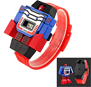 Boys Digital Watches,Robot Transformer for Age 3-7 7-10 11-15 Wrist Watch Gift for Kids