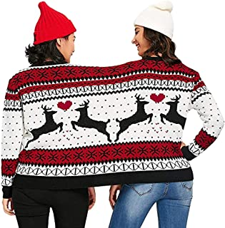 Highpot Two Person Knit Sweater Xmas Couples Pullovers Ugly Christmas Jumper