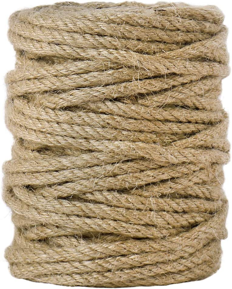 Tenn Well 5mm Gorgeous Jute Max 81% OFF Twine 100 Feet and Duty Heavy T Twisted 4Ply