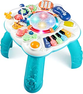 BACCOW Baby Toys, Activity Table for Baby 6 to 12-18 Months, Learning Musical Toddler Toys for 1 2 3 Year Old Boys Girls G...
