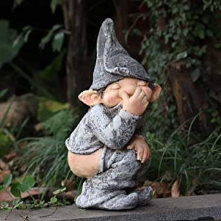 Peeing Gnome Naughty Garden Gnome for Lawn Ornaments, Indoor or Outdoor Decorations Funny Gnome Figurine Elf Garden Gnome ...