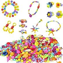 BESKIT 400 Pcs Pop Snap Bead Set - Girls Toddlers Kids Creative DIY Jewelry Kit Set