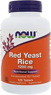 Red Yeast Rice Extract, 1200 mg, 120 Tabs by Now Foods (Pack of 2)