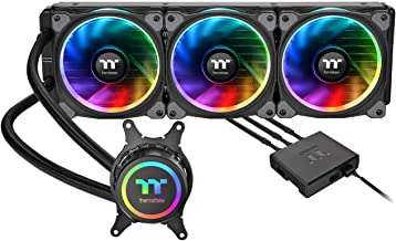 Thermaltake Floe Triple Riing 16.8 Million Color RGB TR4 Edition Alexa Razer Chroma Syncable AIO Liquid Cooling CPU Cooler CL-W235-PL12SW-A