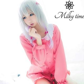 [miliy time]ウィッグ付き エロマンガ先生 和泉 紗霧 (いずみ さぎり) 風 衣装 パジャマ コスチューム (L)