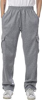 JD Apparel Mens Fleece Cargo Sweatpants Heavyweight M-5XL Big Tall