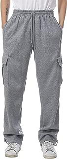 Mens Fleece Cargo Sweatpants Heavyweight M-5XL