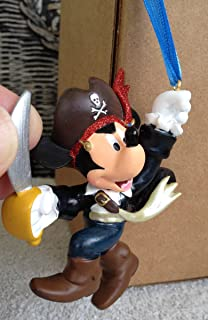 Disney Park Pirate Mickey Mouse Figurine Ornament NEW