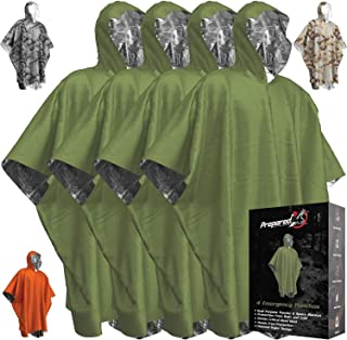 Emergency Blanket Poncho - Keeps You and Your Gear Dry and Warm | Survival Gear and Equipment for Outdoor Activity | Campi...
